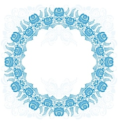 Russian national circular ornament with empty vector image