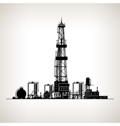 Silhouette Drilling Rig vector