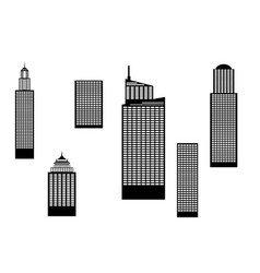 Skyscrapers black and white vector