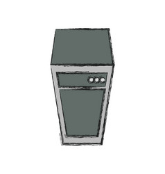 Storage database tower vector