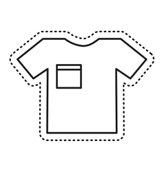 t-shirt clothes isolated icon vector image