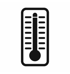 Thermometer indicates high temperature icon vector