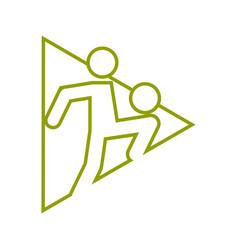 Triangle shape football soccer juggling sport vector