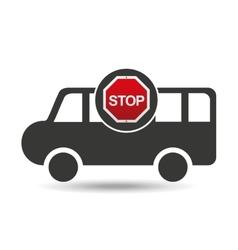 van stop road sign design vector image