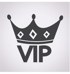 vip membership icon vector image