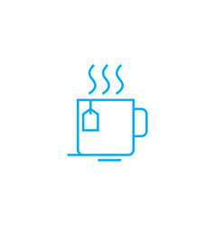 work break linear icon concept work break line vector image