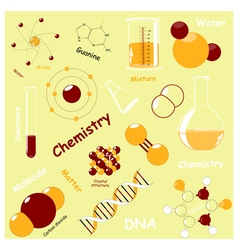 Chemistry elements vector image