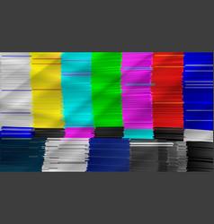 distorted glitch tv digilal no signal glitch art vector image