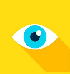 eye flat icon vector image