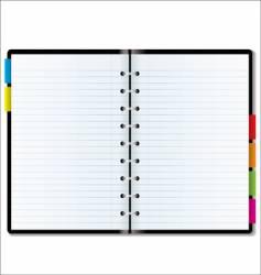 organizer blank vector image