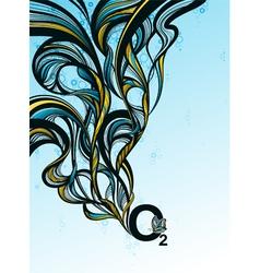 Oxygen splash - abstract design vector image vector image