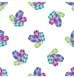bunch of colorfull Feathers seamless pattern vector image vector image