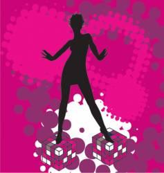disco dancing vector image