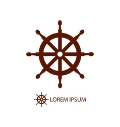 Helm as logo on white vector image