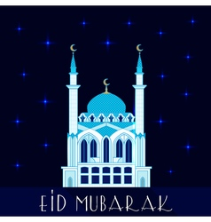 Mosque at night flat vector image vector image