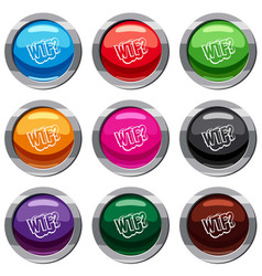 wtf comic book bubble text set 9 collection vector image