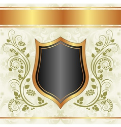 black creamy gold background vector image vector image