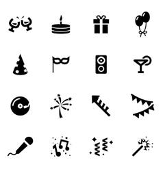 black party icon set vector image