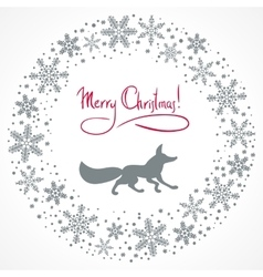 Christmas snow garland background vector image
