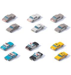 Isometric cars set vector