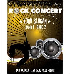 Rock concert wallpaper vector image