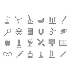 Sciense gray icons vector image vector image