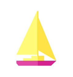 sunny of a sailboat vector image