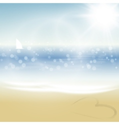 Tropical summer beach vector image vector image