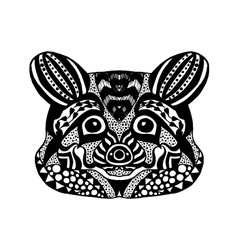 Zentangle stylized raccoon Sketch for tattoo or t vector image