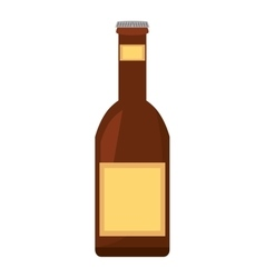 Beer bottle drink pour vector