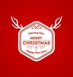 Christmas badge 5 vector