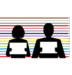 Criminal records vector image