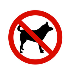 forbidding signs no dog or pets vector image vector image