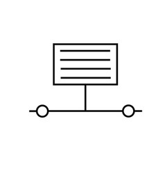 Information transfer sharing process icon vector