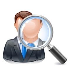 search employee icon vector image vector image