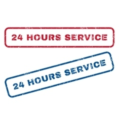 24 Hours Service Rubber Stamps vector image