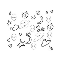 A black and white doodle or color vector
