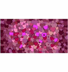 Abstract background with burgundy hearts vector