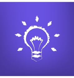 Abstract Draw Light Bulb isoated vector image