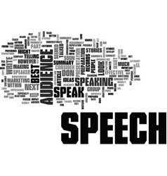 after the speech text word cloud concept vector image
