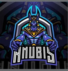 Anubis esport mascot logo vector