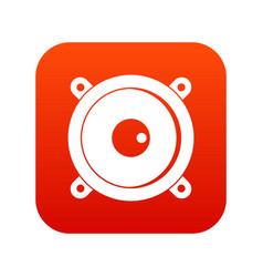 audio speaker icon digital red vector image