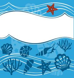 background with marine animals summer background vector image