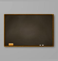 brown chalkboard on gray wall blackboard vector image