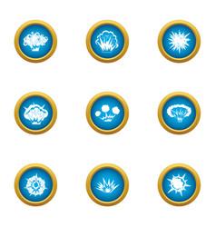 Bursting icons set flat style vector