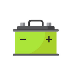 car battery flat icon isolated on white vector image
