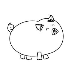 Chicken icon farm animal concept graphic vector