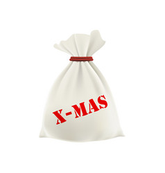 christmas gift in a bag new year vector image