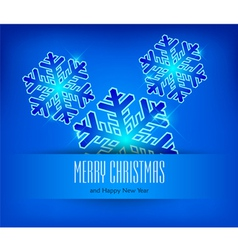 christmas ornament blue background 10 SS v vector image vector image