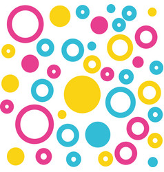 Circles colorful pattern background vector